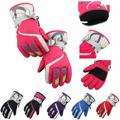 Kids Waterproof Anti-slip Outdoor Sports Warm Thermal Ski Snow Gloves Winter