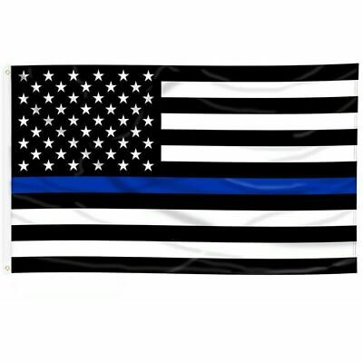 2 Thin Blue Line American Flag USA Police Lives Matter Law Enforcement 3X5 FT