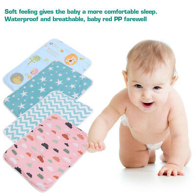 Newborn Baby Infant Waterproof Urine Mat/ Changing Pad Cover Change Mat 50x70cm