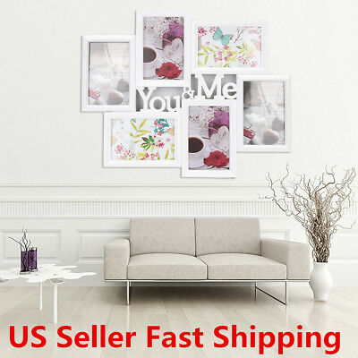 6 Images You&Me Picture Display Wall Decor 6'' Collage Photo Frame Home Decor US