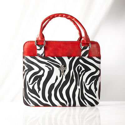 Zebra Print Large Purse Style Bible Cover by Christian Art Gifts