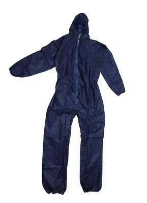 2 x Brand New Frontier polypropylene Blue Coveralls 3XL Zip front with Hood