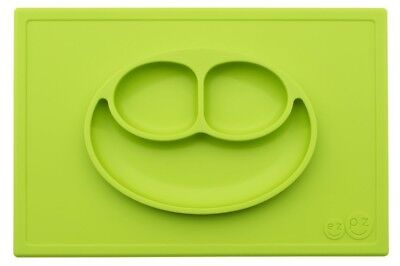 ezpz ® Happy Mat - One-piece silicone placemat + plate (Lime)