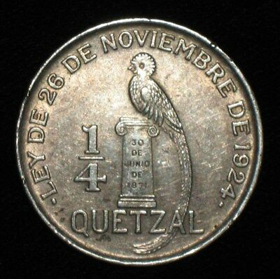 1928, 1/4 Quetzal from Guatemala.  No Reserve!