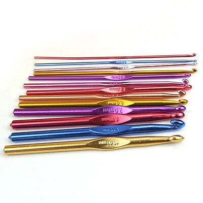 Knitting Rainbow Aluminum Crochet Hooks hand rafts Single needle 2.0mm-10.0mm
