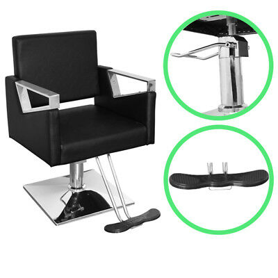 Pro Salon Chair Barbers Chairs Hairdressing Upholstered Seat Swivel Cozy  Padded