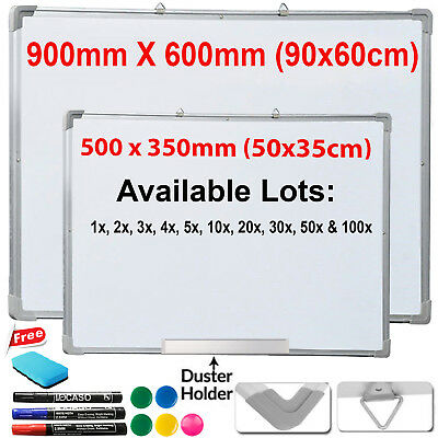 Magnetic Whiteboard Dry Wipe White Memo Notice Meeting Board Office School Home