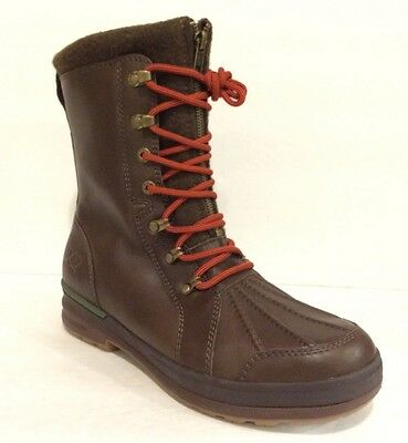 6cb912a4660 UGG RUFFINS MEN'S WATERPROOF DUCK BOOTS BROWN LEATHER -US Size 8.5 / 9 -NEW