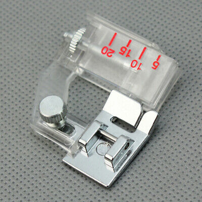 Home Adjustable Bias Binder Low Shank Flat Foot Feet Snap For Sewing Machine 1 x
