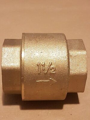 "Pegler check valve 1 1/2"" 42mm pegler yorkshire  female thread spring type"