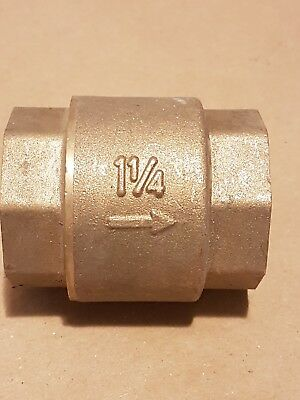 "Pegler check valve 1 1/4"" 35mm pegler yorkshire  female thread spring type"