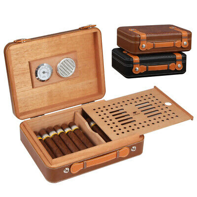 Cohiba Brown Classic Cerdar Wood Travel Cigar Case Humidor Box 25-40 Counts
