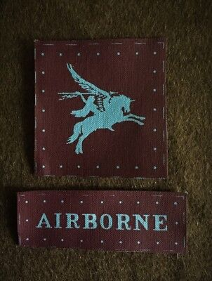 British Airborne Insignia Set reproduction WWII for Battledress