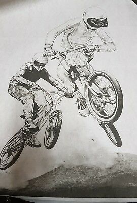 HOBBYTEX  PICTURE # 4287 BMX style jumping Unworked  WITH INSTRUCTIONS