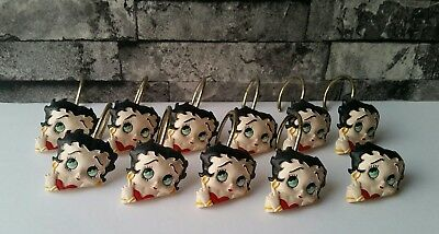 Betty Boop 11 Shower Bath Room Hooks Torso Decorative Cartoon Licensed