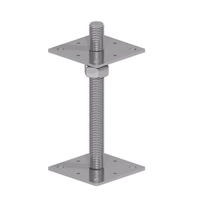 "Fencemate | BZP Adjustable Bolt Down Post Support for | 75mm 100mm | 3"" & 4 """