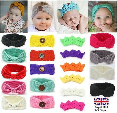 Baby Girls Winter Turban Crochet Knitted Wool Headband Headwrap Ear Warmer Crown