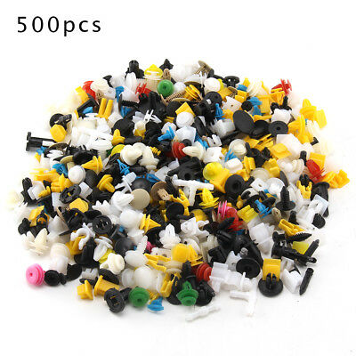 500X Car Plastic Trim Door Panel Retainer Clips Rivet Fastener Mud Flaps Push