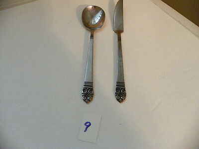 Set Of 2 Stanley Roberts  Highmont  Stainless  Sugar Spoon / Master Butter Knife