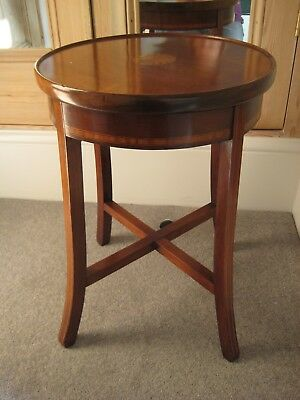 Antique Edwardian Inlaid Mahogany Occasional / Side / Bedside table