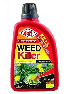 Doff Glyphosate Weedkiller Concentrate 1Litre Pack Garden Weed Control
