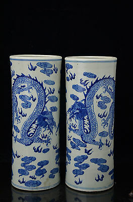 A pair Beautiful fine Chinese blue and white Porcelain vase