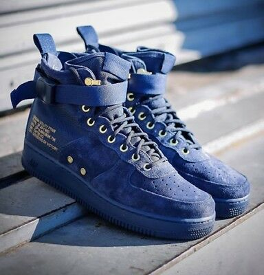 buy popular 0d19e c0e5b Nike SF Air Force 1 Mid Obsidian Sneakers Men s Lifestyle Shoes