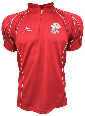 Olorun England Classic Supporters Flux Rugby Shirt S-3XL