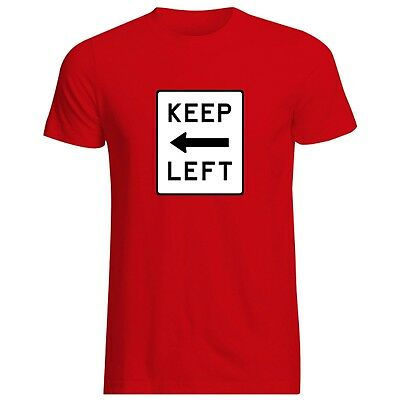 KEEP LEFT T-SHIRT - ALL SIZES + COLS (Gildan labour socialism marx corbyn red)
