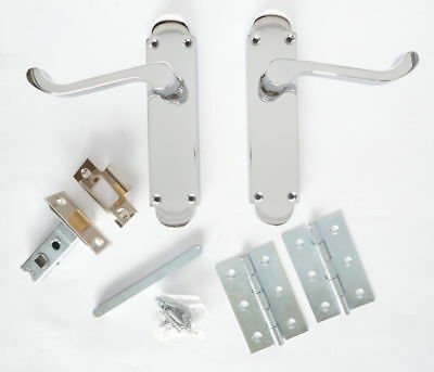 EPSOM INTERNAL DOOR Handles SET - Latch, Lock Or Bathroom Handle ...