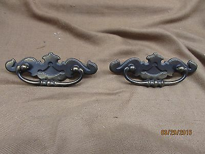 Vintage Brass Bat Wing Drawer Pulls / Set Of 2