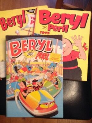 Beryl The Peril Annuals 1971, 1977 and 1981