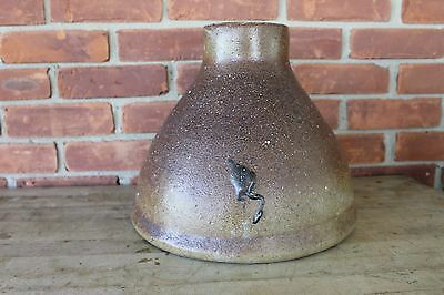 SEWER TILE Salt glaze Stoneware  Architectural Water Down Spout FUNNEL STRAINER