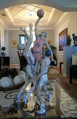 """~RARE & Large 26.75"""" Lladro """"To the Rim"""" Sports/Basketball(1800 Mint Condition)"""