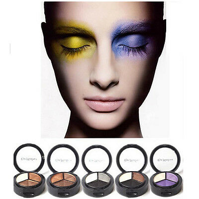 3 Colors New Eyeshadow Natural Smoky Cosmetic Eye Shadow Palette Set Make Up 1pc