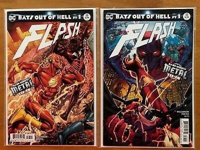 Flash 33 A & B Porter Variant (Sold Out) Dark Nights Metal Tie-In DC 2017 NM