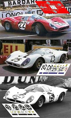Calcas Ferrari 412P Le Mans 1967 Test Race 1:32 1:43 1:24 1:18 412 P decals