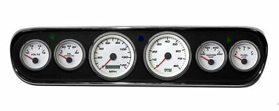 New Vintage White Perf Series 64-66 Mustang Pre-Wired Prog Speed Gauges 01708-03