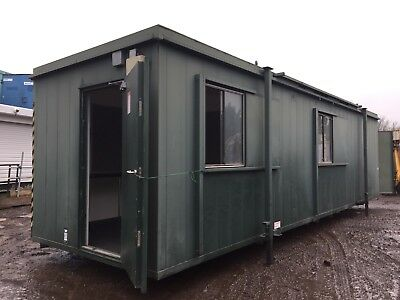 Site Office Cabin Portable Storage Building 32ft x 9ft Anti Vandal Steel