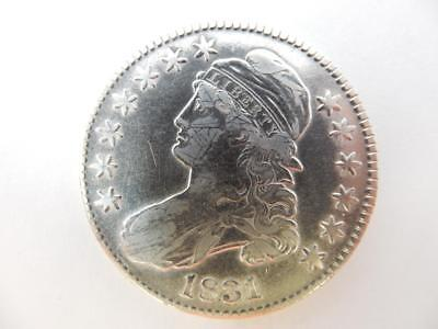 1831 Capped Bust Half Dollar, US, 90% Silver,  #F30