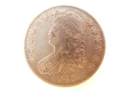 1830 Capped Bust Half Dollar, US, 90% Silver,  #F31
