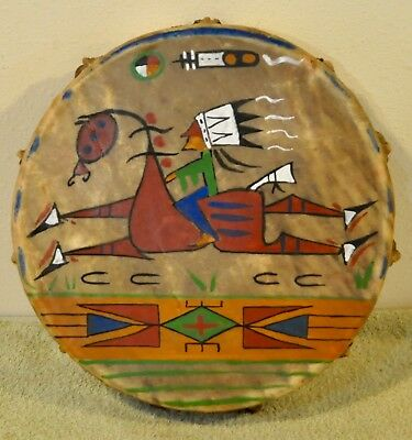 A Good Day /Native American Drum Painted by Lakota Artist Sonja Holy Eagle
