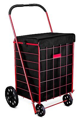 Standard Shopping Cart Liner Waterproof Grocery Laundry Bags Basket Cover Black
