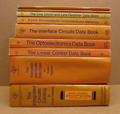 LOT OF 9 TI Texas Instruments Data Books circuits transistor driver interface