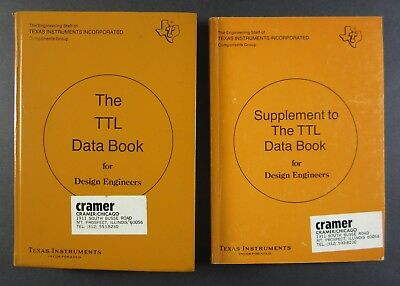 TI Texas Instruments TTL Data Book for Design Engineers 1st Ed & Supplements lot