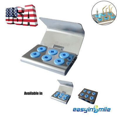 6 Hole EASYINSMILE Dental Scaler Tip holder Stand &Cover Fit EMS/NSK/WOODPECKER