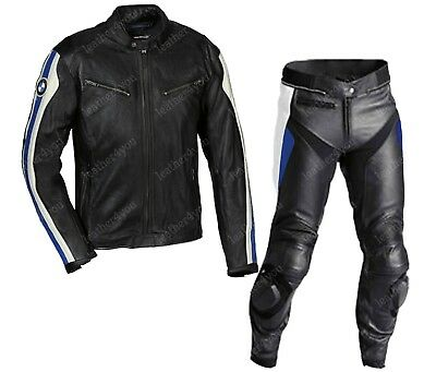 Bmw Mens Racing Motorcycle Leather Suit Moto Gp Motorbike Leather Jacket Trouser