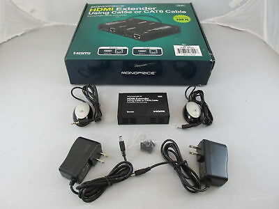 Monoprice 8122 HDMI Extender Sender Unit Only with AC Adapter & Remote Sensor