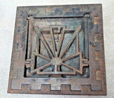 Vintage Symonds Cast Iron Heat Register Floor Wall Grate Patent 1907