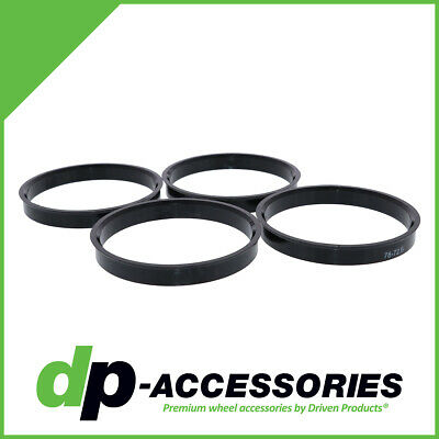Set of 4 Polycarbonate Plastic Hub Centric Rings 78mm OD 74.1mm ID HubCentric